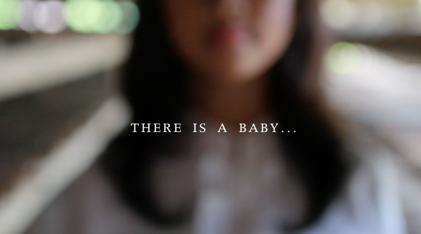 There is a baby