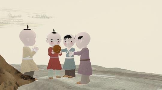 水墨动画专业毕业设计短片 《文彦博取球》