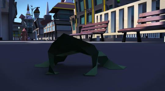 三维折纸动画《青蛙的日记》