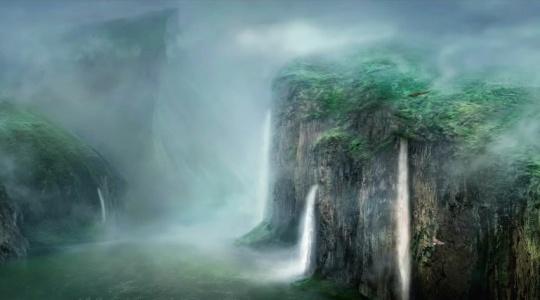 180米中华长江自然山水数字画一镜到底无缝无字幕滚动版