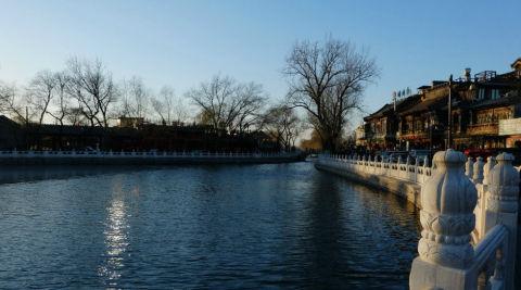 北京:入冬以来今天最冷  后海可滑冰