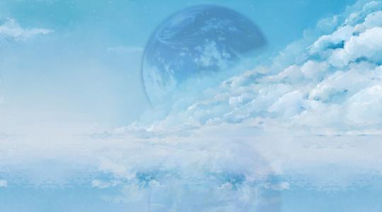 孤独的自由翱翔在梦幻的星空《Dream blue》