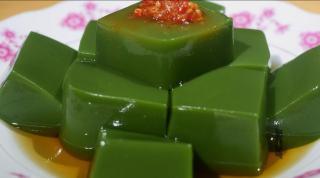 树叶和草木灰做成的豆腐,民间极品小吃中的清流
