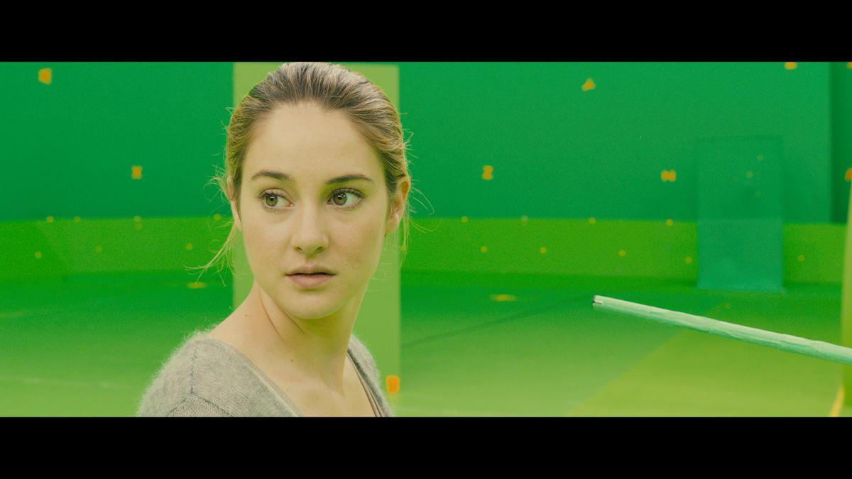 视频小女孩绿幕素材