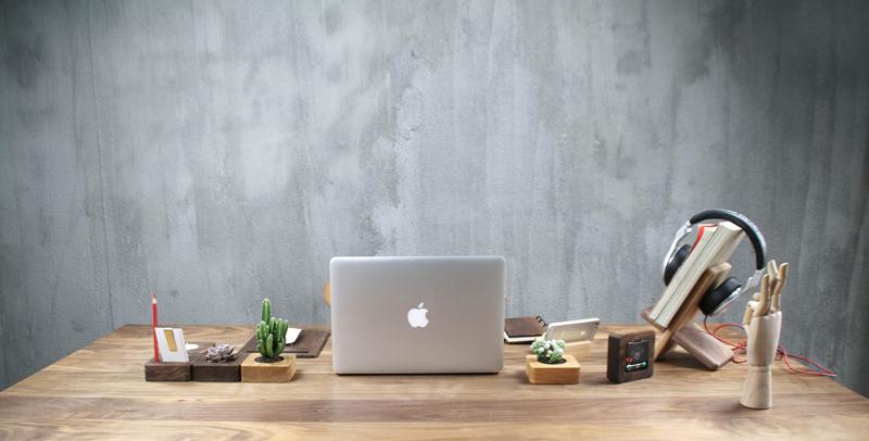 办公桌面【木器】小物件 简约创意设计