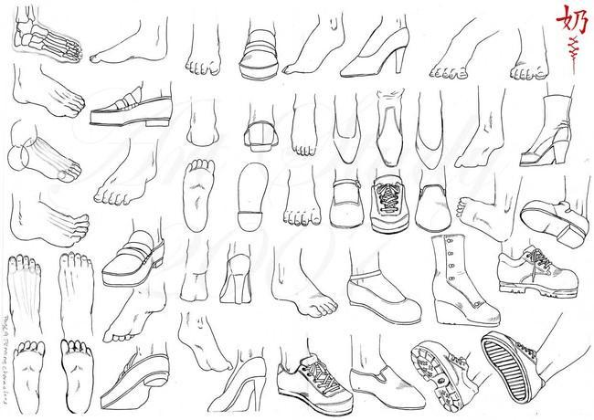 光定的女人图片_[绘画]漫画人物的脚部绘制基础教程-轻微课漫画培训班 - 新片场