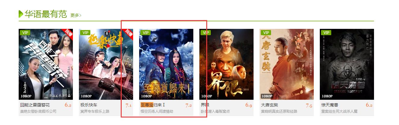 爱奇艺vip频道华语最有范推荐