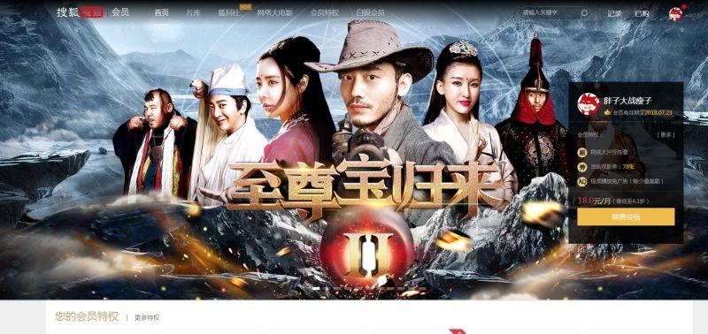 搜狐会员频道首页Banner