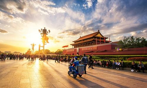 北京时间(中轴线大范围延时摄影)
