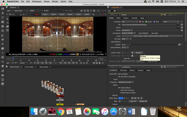 [翻译视频教程]Nuke Cara VR全景视频傻瓜拼接全流程视频+图文(5集)插图(28)