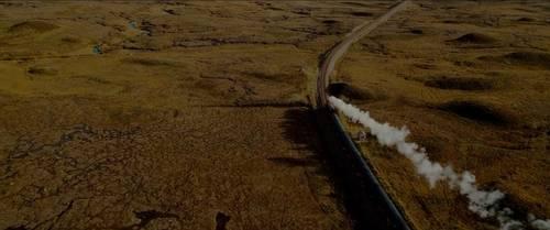远距离拍摄交代当前火车的情况