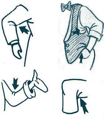 服装画人体矢量图